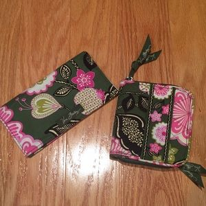 Vera Bradley matching wallet and checkbook cover